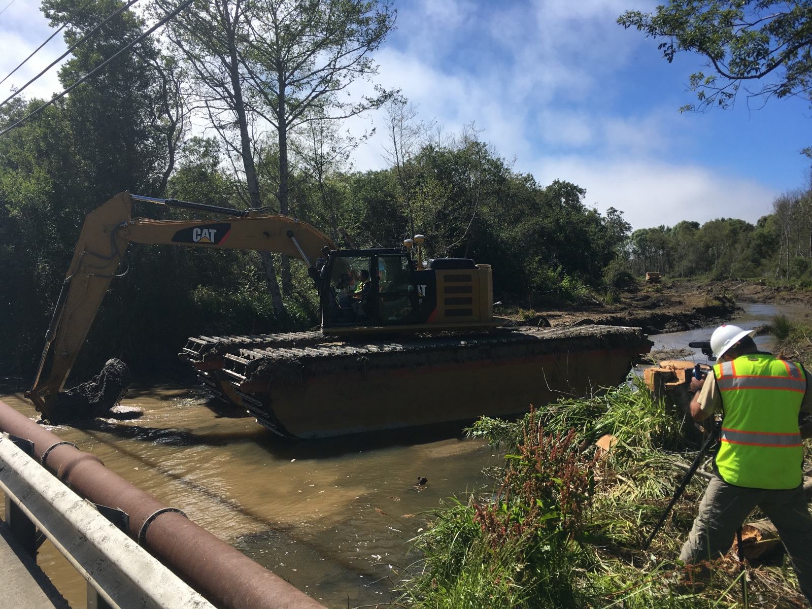 Removal of Sediment Plug, July 2019