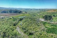 Aerial View looking upstream at Butano Creek, June 2019