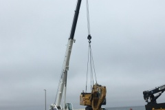 Delivery of the pontoon excavator, May 31 2019