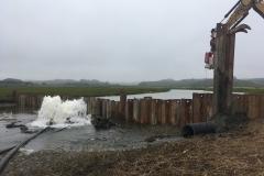 Coffer Dam Installation, June 2019