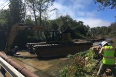Removal of Sediment Plug, July 2019