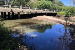 Initial sediment plug removal at Pescadero Creek Road, July 2019
