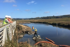 Work on Marsh constrol Structure, August 2019