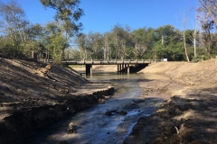 Looking downstream at the Pescadero Creek Bridge. Pre-project there was almost zero clearance left between the bridge and the water level. September 2019