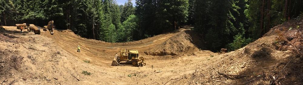 DG Week 2: Panoramic of crossing excavation.
