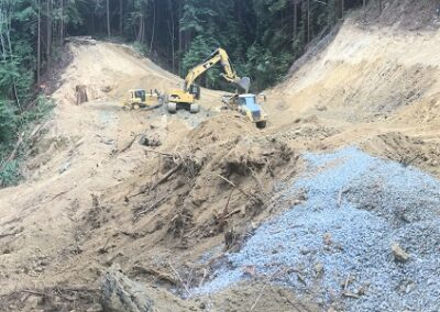 DG Week 4: Panoramic of crossing excavation.