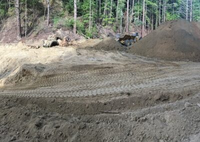 DG Week 5: Panoramic of crossing (left) and stockpile area (right).