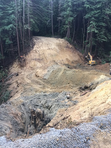 DG Week 5: Crossing excavation (looking east along Old Haul Road).