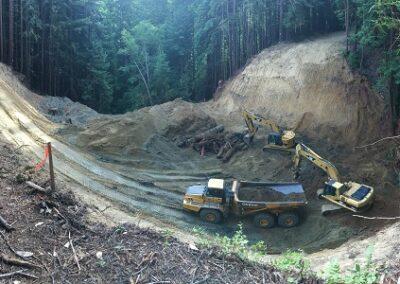 DG Week 5: Panoramic of crossing excavation.