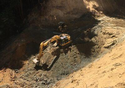 DG Week 6: Crossing excavation (looking east along Old Haul Road).