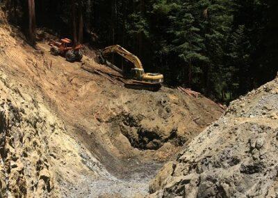 DG Week 10: Midway in excavated crossing excavation, looking downstream