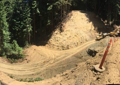 DG Week 8: Overlooking crossing excavation (from NW side)