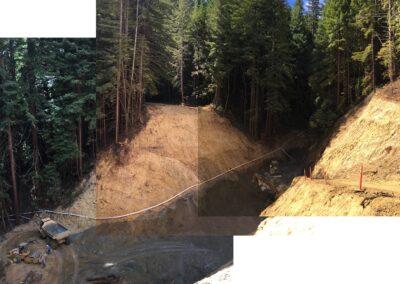 DG Week 9: Composite photos overlooking crossing excavation