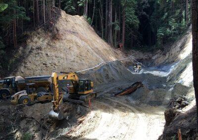 DG Week 9: View of crossing excavation from downstream end