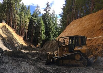 DG Week 9: Panoramic view from upstream end of excavated crossing