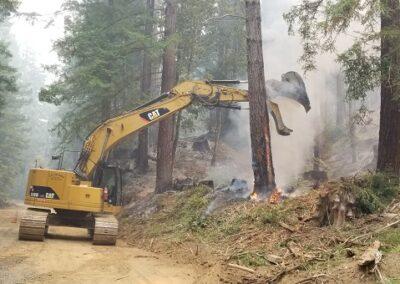 DG Week 16: CZU Fire: Managing fire breaks on Old Haul Road (Sun, 8/23/20)