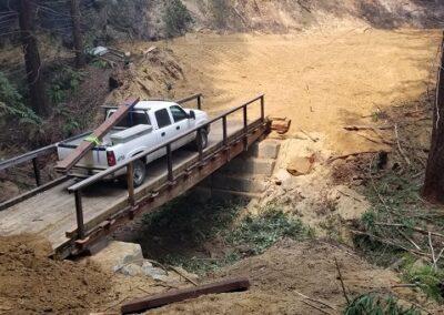 DG Week 16: CZU Fire: Trestle Cr Bridge on Old Haul Road completed (Wed, 8/26/20)