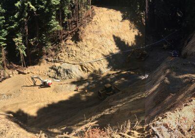 DG Week 13: Composite photos overlooking excavation from NW