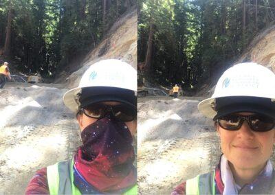 DG Week 13: Selfie (Sara Polgar, RCD Project Manager), showing upstream end of crossing.