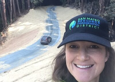 DG Week 25: Project Manager (Sara Polgar) selfie overlooking finished crossing
